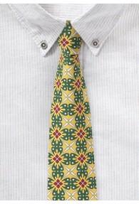 Gelb/grüne Krawatte mit außergewöhnlichem