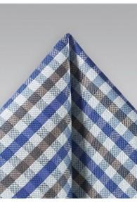 Kavaliertuch Vichy-Karo königsblau mittelgrau