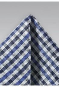 Kavaliertuch Vichy-Karo königsblau marineblau