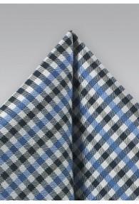 Ziertuch Vichy-Karo nachtschwarz taubenblau