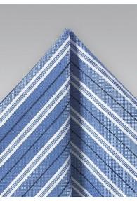 Einstecktuch Streifen Baumwolle hellblau