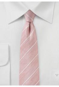Krawatte Fischgrät-Struktur rose