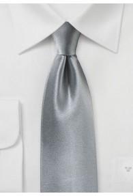 Krawatte Satinglanz silbergrau