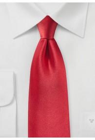 Krawatte Satinglanz rot