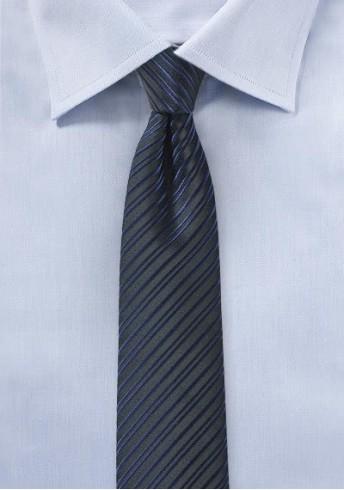 Businesskrawatte schlank Streifen-Struktur dunkelblau