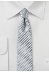 Krawatte schmal geformt Linien-Oberfläche silber