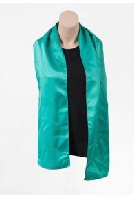 Damenschal blaugrün aus Kunstfaser