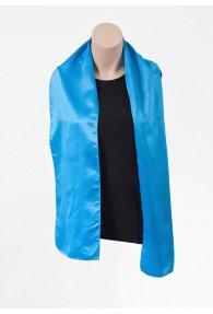 Damenschal cyanblau aus Poly-Faser