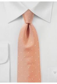 Krawatte lachs Pünktchen