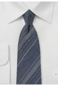 Herrenkrawatte Linien-Muster marineblau