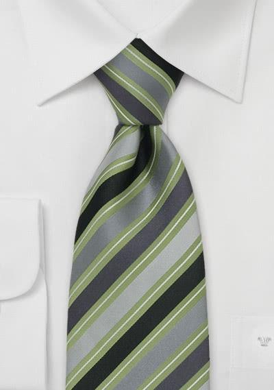 Clip-Krawatte grün / silber