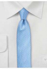 Businesskrawatte Punkt-Muster eisblau nachtblau