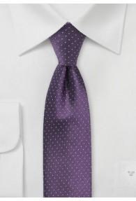 Businesskrawatte Punkt-Dessin violett hellgrau