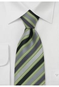 Gummizug-Krawatte grün / silber