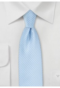 Krawatte himmelblau tupfengemustert
