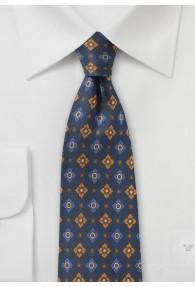 Krawatte britisches Blumenmuster navy