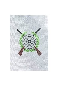 Herrenkrawatte Schützen-Motiv perlweiß