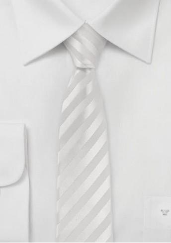 Extra schmale Krawatte in weiß