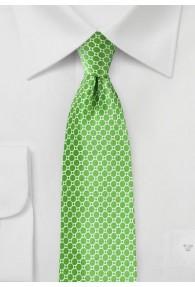 Krawatte Netz-Dekor Retro signalgrün
