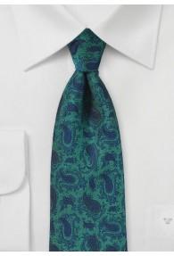 Krawatte aqua blau Tropfenmotive