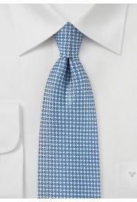 Krawatte Kästchen-Struktur hellblau schneeweiß