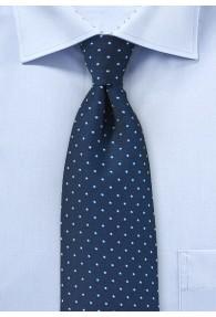 Krawatte Tupfen navyblau