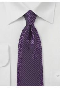 Nadelstreifen-Herrenkrawatte violett