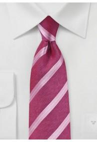 Krawatte Streifenmuster pink