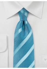 Krawatte Streifenmuster dunkeltürkis
