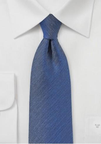 Krawatte Fischgräten blau