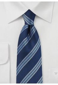 Kravatte klassisch streifig blau
