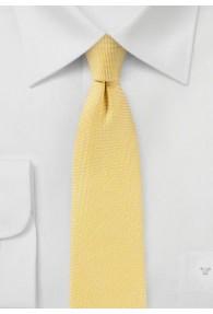Krawatte mit Leinen in gelb