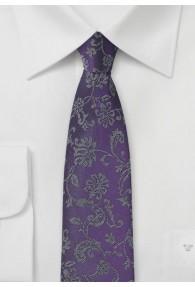 Blümchenmuster-Krawatte violett