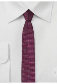 Extra schlanke Krawatte strukturiert  magenta