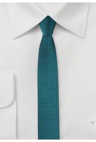Extra schlanke Krawatte strukturiert blaugrün