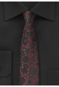 Krawatte Mosaik-Design weinrot