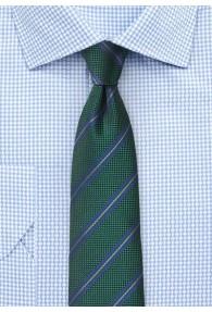 Krawatte Business-Streifen dunkelgrün königsblau