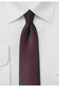 Kravatte  Pinstripe  braunrot