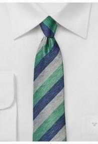 Businesskrawatte Linien  dunkelblau dunkelgrün...