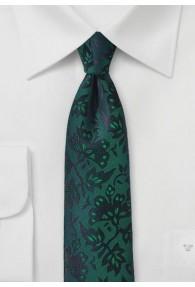 Krawatte Rankenmuster dunkelgrün