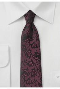Krawatte Rankenmuster bordeauxrot