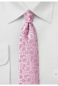 Ranken-Krawatte hellrosa dunkelrosa