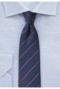 Businesskrawatte Business-Streifen nachtblau...