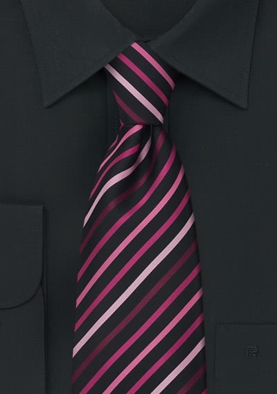XXL-Krawatte modisch gestreift