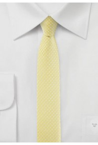 Krawatte schmal geformt  pastellgelb getupft