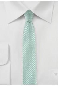 Krawatte schmal geformt  mint gepunktet