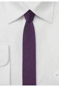 Krawatte extra schlank brombeer