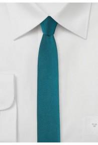 Krawatte extra schmal dunkeltürkis
