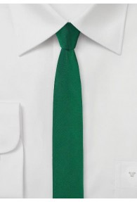 Businesskrawatte extra schmal dunkelgrün