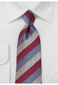 Krawatte Herring-Bone-Streifen taubenblaugrau